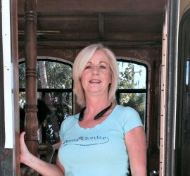 Della, your official tour guide of the Punta Gorda Trolley