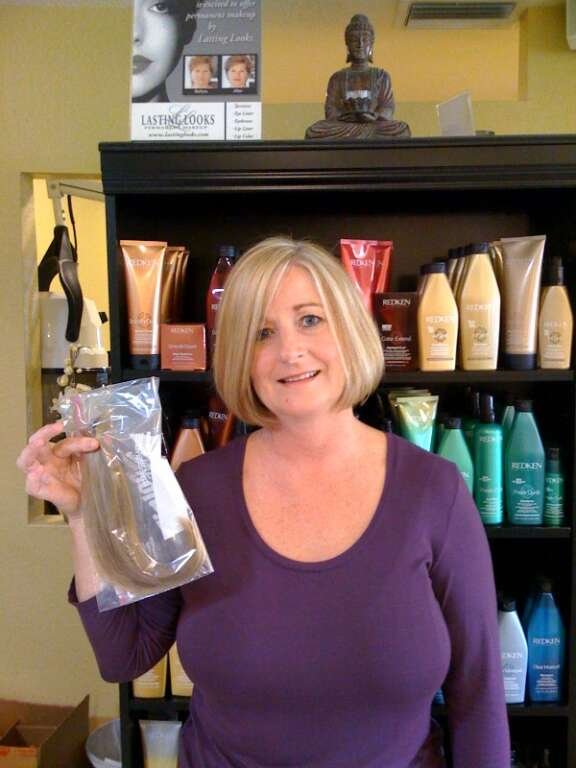 Della After donating to Locks of Love